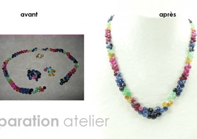 Bijouterie Azurite Bergerac, Dordogne. Atelier de bijouterie, renfilage collier en pierres précieuses et pierres  fines