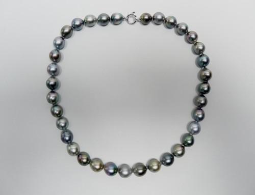 collier perles de tahiti fermoir or blanc azurite bijouterie bergerac. Black Bedroom Furniture Sets. Home Design Ideas
