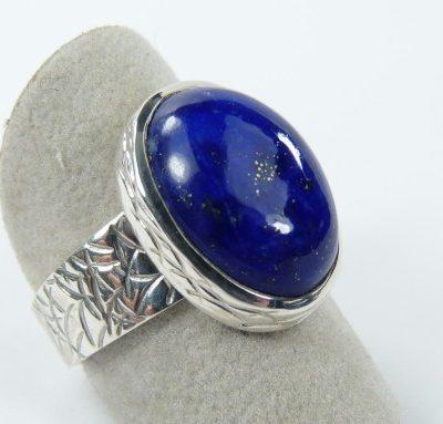 Bague lapis lazuli et argent3