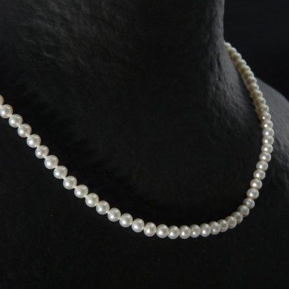 collier perle de culture fermoir or